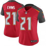 Wholesale Cheap Nike Buccaneers #21 Justin Evans Red Team Color Women's Stitched NFL Vapor Untouchable Limited Jersey