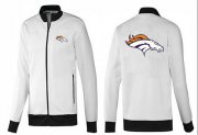 Wholesale NFL Denver Broncos Team Logo Jacket White_1