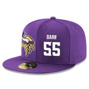 Wholesale Cheap Minnesota Vikings #55 Anthony Barr Snapback Cap NFL Player Purple with White Number Stitched Hat