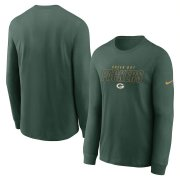 Wholesale Men's Los Angeles Rams Nike Navy Salute to Service Sideline Legend Performance Long Sleeve T-Shirt