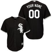Wholesale Cheap Chicago White Sox Majestic Cool Base Custom Jersey Black