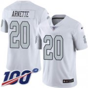 Wholesale Cheap Nike Raiders #20 Damon Arnette White Men's Stitched NFL Limited Rush 100th Season Jersey