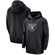 Wholesale Cheap Las Vegas Raiders Nike Sideline Performance Player Pullover Hoodie Black