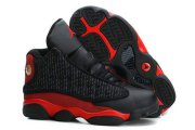 Wholesale Cheap Big Kids Air Jordan 13 Retro Shoes Black/fire red
