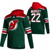Wholesale Cheap New Jersey Devils #22 Ryan Murray Adidas Reverse Retro Pullover Hoodie Green