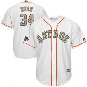 Wholesale Cheap Astros #34 Nolan Ryan White 2018 Gold Program Cool Base Stitched Youth MLB Jersey