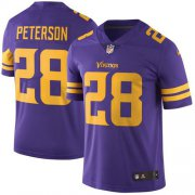 Wholesale Cheap Nike Vikings #28 Adrian Peterson Purple Youth Stitched NFL Limited Rush Jersey