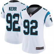 Wholesale Cheap Nike Panthers #92 Zach Kerr White Women's Stitched NFL Vapor Untouchable Limited Jersey