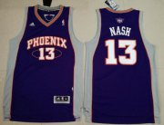 Wholesale Cheap Men's Phoenix Suns #13 Steve Nash Purple Stitched NBA Adidas Revolution 30 Swingman Jersey