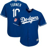 Wholesale Cheap Dodgers #10 Justin Turner Royal 2019 Spring Training Cool Base Stitched MLB Jersey