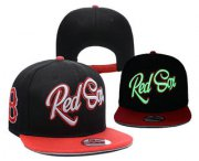 Wholesale Cheap MLB Boston Red Sox Snapback Ajustable Cap Hat YD 3