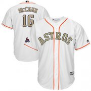 Wholesale Cheap Astros #16 Brian McCann White 2018 Gold Program Cool Base Stitched Youth MLB Jersey