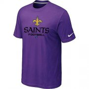Wholesale Cheap Nike New Orleans Saints Big & Tall Critical Victory NFL T-Shirt Purple