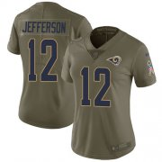 Wholesale Cheap Nike Rams #12 Van Jefferson Olive Women's Stitched NFL Limited 2017 Salute To Service Jersey