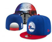 Wholesale Cheap Philadelphia 76ers Snapback Ajustable Cap Hat YD 2