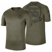 Wholesale Cheap Dallas Cowboys #55 Leighton Vander Esch Olive 2019 Salute To Service Sideline NFL T-Shirt
