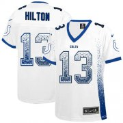 Wholesale Cheap Nike Colts #13 T.Y. Hilton White Women's Stitched NFL Elite Drift Fashion Jersey