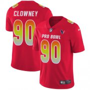 Wholesale Cheap Nike Texans #90 Jadeveon Clowney Red Youth Stitched NFL Limited AFC 2019 Pro Bowl Jersey