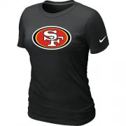 Wholesale Cheap Women's Nike San Francisco 49ers Logo NFL T-Shirt Black