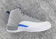 Wholesale Cheap Air Jordan 12 University Blue Wolf Grey/White