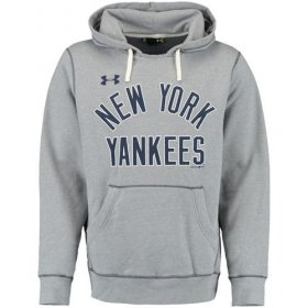 Wholesale Cheap New York Yankees Under Armour Legacy Fleece Gray MLB Hoodie