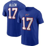 Wholesale Cheap Buffalo Bills #17 Josh Allen Nike Team Player Name & Number T-Shirt Royal