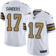 Wholesale Cheap Nike Saints #17 Emmanuel Sanders White Youth Stitched NFL Limited Rush Jersey