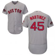Wholesale Cheap Red Sox #45 Pedro Martinez Grey Flexbase Authentic Collection 2018 World Series Champions Stitched MLB Jersey