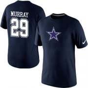 Wholesale Cheap Nike Dallas Cowboys #29 DeMarco Murray Name & Number NFL T-Shirt Blue