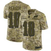 Wholesale Cheap Nike Eagles #18 Jalen Reagor Camo Men's Stitched NFL Limited 2018 Salute To Service Jersey
