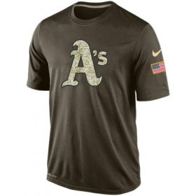 Wholesale Men\'s Oakland Athletics Salute To Service Nike Dri-FIT T-Shirt