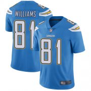 Wholesale Cheap Nike Chargers #81 Mike Williams Electric Blue Alternate Men's Stitched NFL Vapor Untouchable Limited Jersey