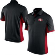 Wholesale Cheap Men's Nike NFL San Francisco 49ers Black Team Issue Performance Polo