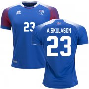 Wholesale Cheap Iceland #23 A.Skulason Home Soccer Country Jersey
