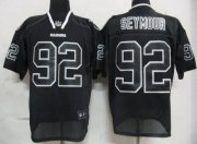 Wholesale Cheap Raiders #92 Richard Seymour Lights Out Black Stitched NFL Jersey