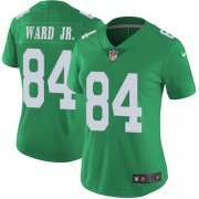 Wholesale Cheap Nike Eagles #84 Greg Ward Jr. Green Women's Stitched NFL Limited Rush Jersey