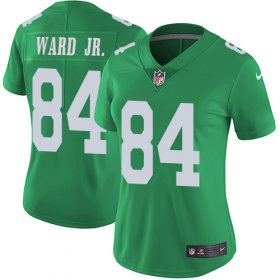 Wholesale Cheap Nike Eagles #84 Greg Ward Jr. Green Women\'s Stitched NFL Limited Rush Jersey