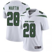 Wholesale Cheap Nike Jets #28 Curtis Martin White Men's Stitched NFL Vapor Untouchable Limited Jersey