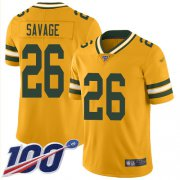 Wholesale Cheap Nike Packers #26 Darnell Savage Gold Men's Stitched NFL Limited Inverted Legend 100th Season Jersey