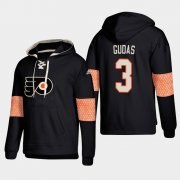 Wholesale Cheap Philadelphia Flyers #3 Radko Gudas Black adidas Lace-Up Pullover Hoodie