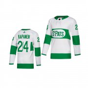 Wholesale Cheap Adidas Maple Leafs #24 Kasperi Kapanen White 2019 St. Patrick's Day Authentic Player Stitched Youth NHL Jersey