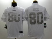 Wholesale Nike 49ers #80 Jerry Rice White Men's Stitched NFL Limited Platinum Jersey