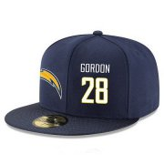 Wholesale Cheap San Diego Chargers #28 Melvin Gordon Snapback Cap NFL Player Navy Blue with White Number Stitched Hat