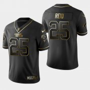 Wholesale Cheap Carolina Panthers #25 Eric Reid Vapor Limited Black Golden Jersey