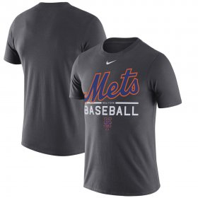 Wholesale Cheap New York Mets Nike Practice Performance T-Shirt Anthracite