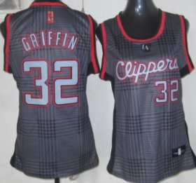 Wholesale Cheap Los Angeles Clippers #32 Blake Griffin Black Rhythm Fashion Womens Jersey