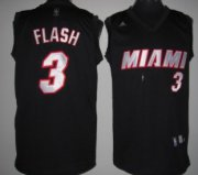 Wholesale Cheap Miami Heat #3 Flash Black Fashion Jersey