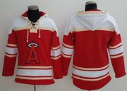 Wholesale Cheap Angels of Anaheim Blank Red Sawyer Hooded Sweatshirt MLB Hoodie