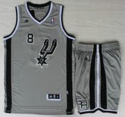 Wholesale Cheap San Antonio Spurs #8 Patrick Mills Grey Revolution 30 Swingman NBA Jersey Short Suits
