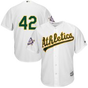 Wholesale Cheap Oakland Athletics #42 Majestic 2019 Jackie Robinson Day Official Cool Base Jersey White